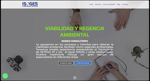 sitio web isoges.com